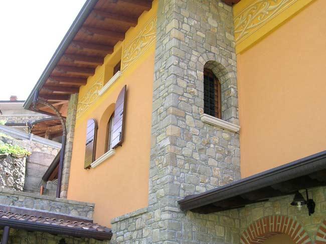Case In Pietra E Mattoni : Rivestimento in pietra di credaro di villa a marmentino cava bettoni